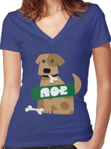 Splatoon SquidForce Splatfest Dog Women's Fitted V-Neck T-Shirt