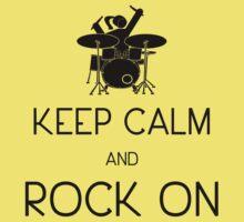 Keep Calm and ROCK ON, Drummer Girl! Baby Tee