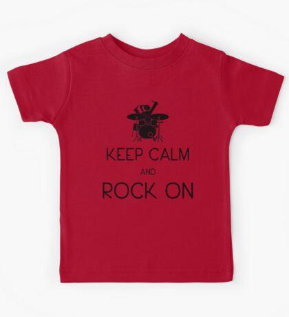 Keep Calm and ROCK ON, Drummer Girl! Kids Tee