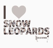 I Love Snow Leopards One Piece - Long Sleeve