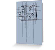 Hitchhiker's Guide to the Galaxy - 42 Greeting Card