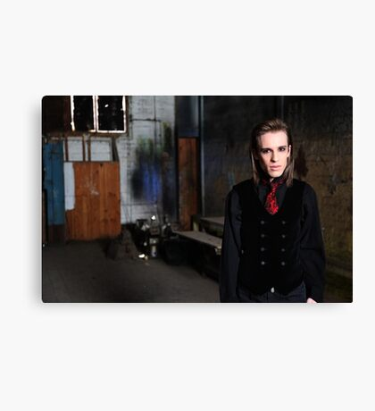 Adam, in the paint frame Canvas Print