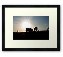 Desert Sillhouette - 4WD Framed Print