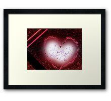 exploding love Framed Print