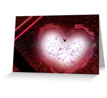 exploding love Greeting Card