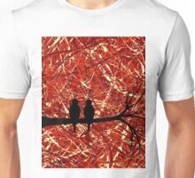 LOVEBIRDS: THE REMAINS OF THE DAY (abstract art) ~ Unisex T-Shirt
