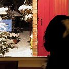 Charlie Girl Watching the Snow by AnnDixon