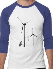 Wind Farm Men's Baseball ¾ T-Shirt