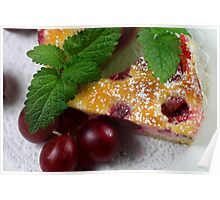 Gooseberry Tarte With Vanilla Cream Poster