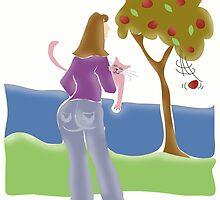 Lady & Cat ~ by Lisa Michelle Garrett