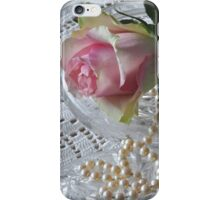 Rose and pearls iPhone Case/Skin