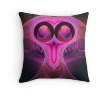 The horn bird Throw Pillow