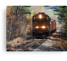 Vintage Train Engine Canvas Print