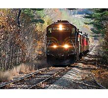 Vintage Train Engine Photographic Print