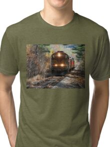 Vintage Train Engine Tri-blend T-Shirt