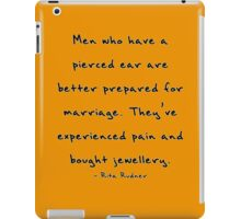Pain and marriage Quote iPad Case/Skin