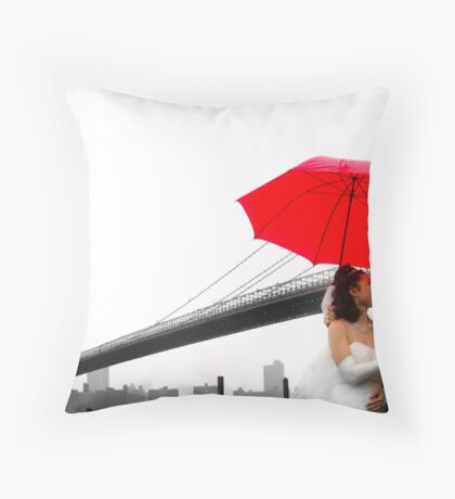 Brooklyn Bridge Wedding Bells II Throw Pillow