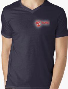 Triple J Mens V-Neck T-Shirt