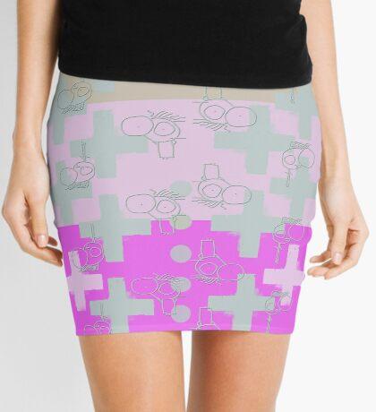 7 DAYS OF SUMMER- 70's KINDA PUNK- PINK CROSS BOHO Mini Skirt