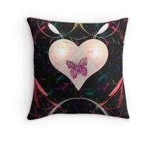Butterfly Heart Throw Pillow
