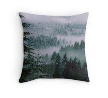 Winter Morning Mist. Throw Pillow