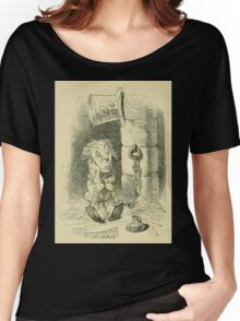 Through the Looking Glass Lewis Carroll art John Tenniel 1872 0116 Were You Ever Punished Women's Relaxed Fit T-Shirt