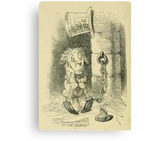Through the Looking Glass Lewis Carroll art John Tenniel 1872 0116 Were You Ever Punished Canvas Print