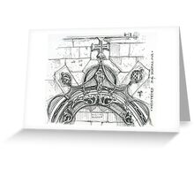 Mosteiro da Batalha sketch Greeting Card