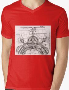Mosteiro da Batalha sketch Mens V-Neck T-Shirt