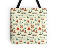Simple abstract seamless tourist pattern Tote Bag