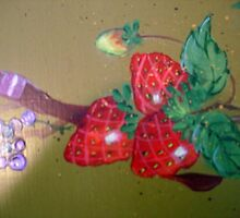 Strawberries and Ribbons by Cathy Amendola