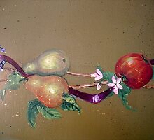 Pears and Ribbons by Cathy Amendola