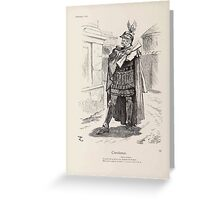 Cartoons by Sir John Tenniel selected from the pages of Punch 1901 0110 Coriolanus Greeting Card