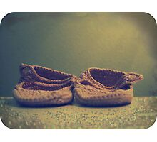 .little pink booties. Photographic Print