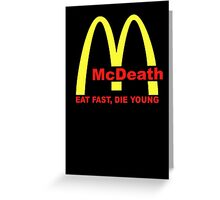 McDeath Greeting Card