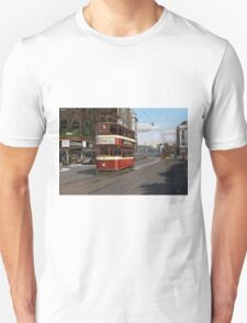 Leeds Tram Street Scene 1950s Unisex T-Shirt