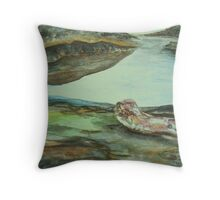 arbutus driftwood and sandstone Throw Pillow