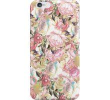 Vintage painting pink red flowers pattern iPhone Case/Skin
