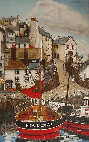 """""""Rita"""" Brixham Harbour by Woodie"""