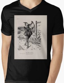 Cartoons by Sir John Tenniel selected from the pages of Punch 1901 0129 The Minstrel Boy Mens V-Neck T-Shirt