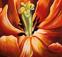 Inside Inside - Tulips by Gigi Butterfly Hoeller