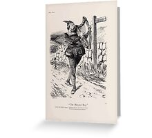 Cartoons by Sir John Tenniel selected from the pages of Punch 1901 0129 The Minstrel Boy Greeting Card