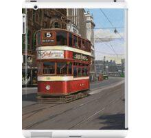 Leeds Tram Street Scene 1950s iPad Case/Skin