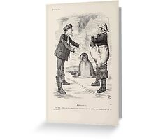 Cartoons by Sir John Tenniel selected from the pages of Punch 1901 0106 Arbitration Greeting Card