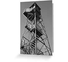 Watchtower overlooking the Mississippi Greeting Card