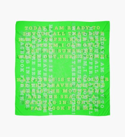 7 DAYS OF SUMMER- MY DAILY STATEMENTS-GREEN JOURNEY Scarf