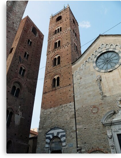 Albenga (Liguria, Italy) Middle Age Towers and Cathedral by presbi