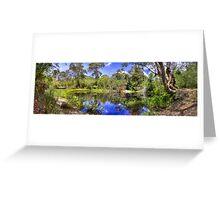 Blue Ponds Greeting Card