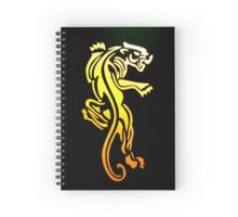 Captured Panther Spiral Notebook