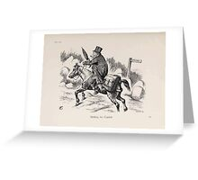 Cartoons by Sir John Tenniel selected from the pages of Punch 1901 0191 Shifting His Capital Greeting Card